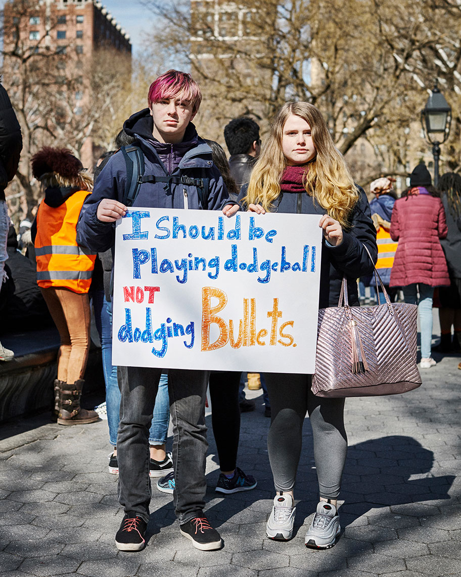 #Enough: Nicholas and Samantha participate in the national mass walkout to demand gun control reform
