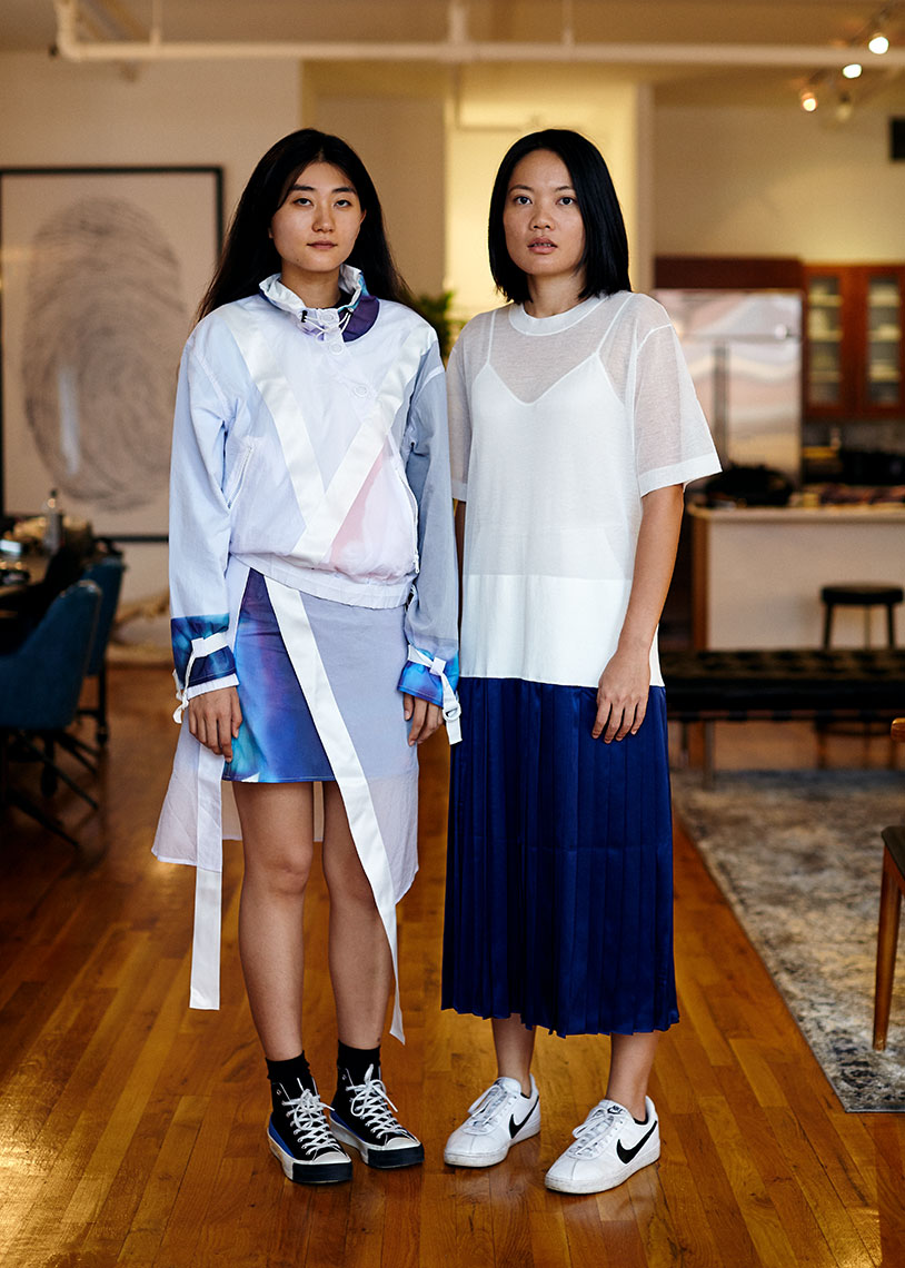 Wei Lin and Mijia Zhang, designers of knitwear brand PH5, for COOLS