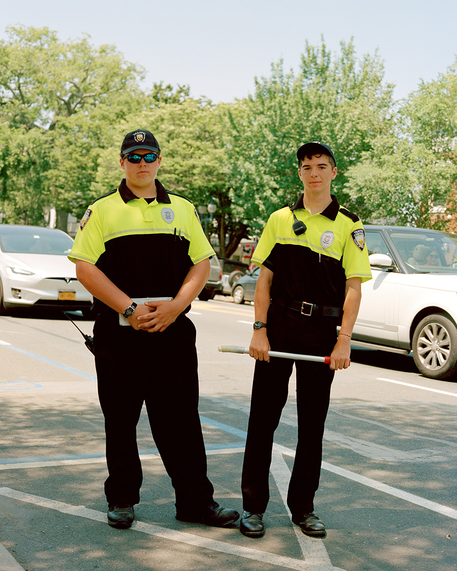 Town Traffic Cops shot for W Mag Hampton